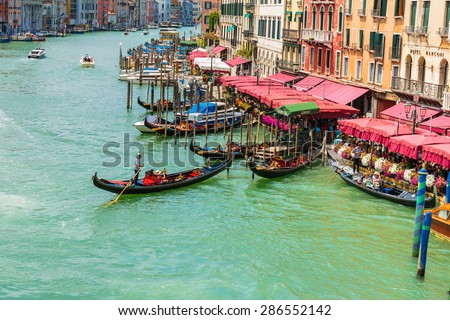VENICE, ITALY - 26 JUNE, 2014: Grand Canal in Venice Italy - stock photo
