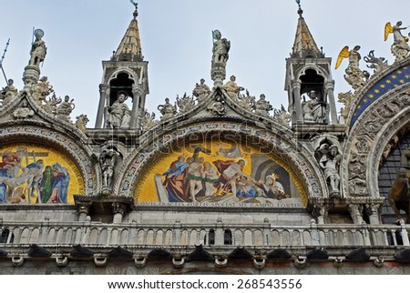 Venice, Italy, Saint Mark basilica detail - stock photo