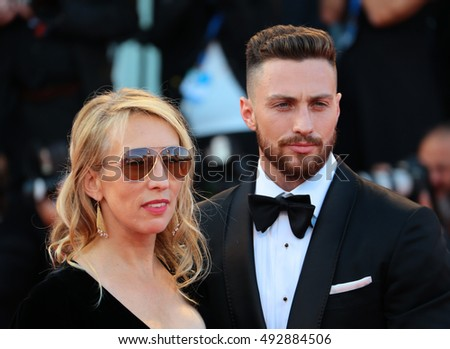 VENICE, ITALY - SEPTEMBER 02: Aaron Taylor-Johnson and Sam Taylor-Johnson  during the 73th Venice Film Festival 2016 in Venice, Italy