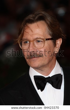 VENICE, ITALY - SEPTEMBER 05: Actor Gary Oldman attends the 'Tinker, Tailor, Soldier, Spy' premiere at the Palazzo del Cinema during the 68th Venice  Festival on September 5, 2011 in Venice, Italy.
