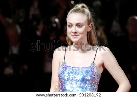 VENICE, ITALY - SEPTEMBER 03: Actress Dakota Fanning attends the premiere of 'Brimstone' during the 73rd Venice Film Festival on September 3, 2016 in Venice, Italy.
