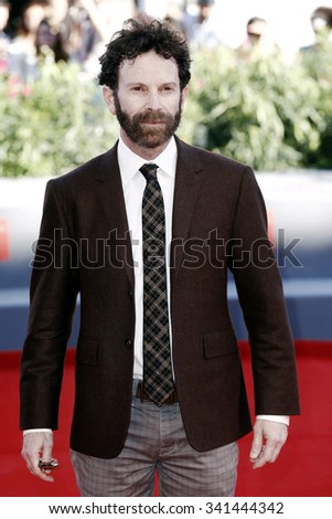 VENICE, ITALY - SEPTEMBER 6: Charlie Kaufman attends the premiere of 'Anomalisa' during the 72nd Venice Film Festival on September 8, 2015 in Venice, Italy. - stock photo