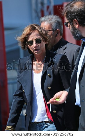VENICE, ITALY - SEPTEMBER 06: Gianna Nannini during the 72th Venice Film Festival 2015 in Venice, Italy