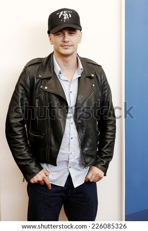 VENICE, ITALY - SEPTEMBER 05: James Franco attends 'The Sound And The Fury' Photo-call during the 71st Venice Film Festival on September 5, 2014 in Venice, Italy. - stock photo