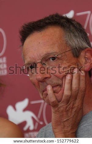 VENICE, ITALY - SEPTEMBER 04: Patrice Leconte  attends 'Une Promesse' Photocall during the 70th Venice International Film Festival at Palazzo del Casino on September 4, 2013 in Venice, Italy.