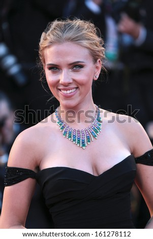 VENICE, ITALY - SEPTEMBER 03: Scarlett Johansson attend 'Under The Skin' Premiere during the 70th Venice Film Festival on September 03, 2013 in Venice, Italy  - stock photo