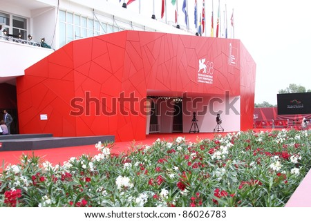 VENICE, ITALY - SEPTEMBER 08: The Palace of Cinema  during the 68th Venice Film Festival, Sept 08  2011 in Venice, Italy. - stock photo