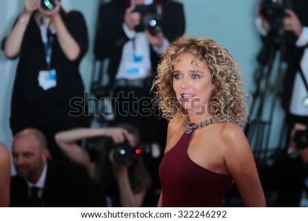 VENICE, ITALY - SEPTEMBER 12: Valeria Golino during the 72th Venice Film Festival 2015 in Venice, Italy - stock photo