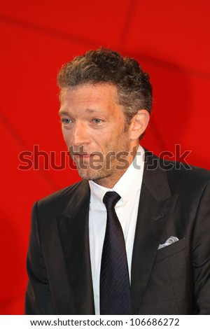 VENICE, ITALY - SEPTEMBER 02: Vincent Cassel during the 68th Venice Film Festival on September 02, 2011 in Venice, Italy. - stock photo