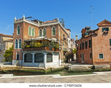 Venice, Italy. Typical urban view in the summer day