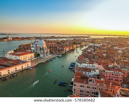 stock photo venice landmark aerial view of piazza san marco or st mark square campanile and ducale or doge 578580682 - Каталог — Фотообои «Венеция»