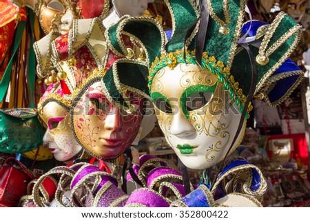 Venice masks - stock photo