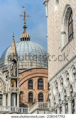 Venice, Piazza San Marco, architectural detail - stock photo