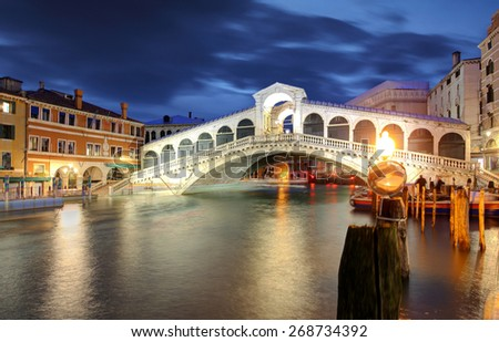 Venice, Rialto Bridge. Italy. - stock photo