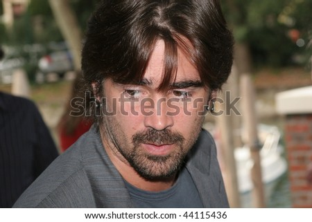 VENICE - SEPT 2:Actor Colin Farrell attends the 'Cassandra's Dream' photocall during day 5 of the 64th Venice Film Festival September 2, 2007 in Venice, Italy - stock photo