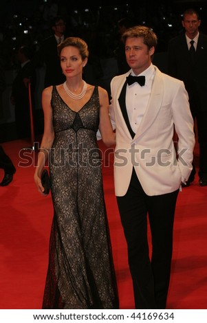 VENICE - SEPT 2:Angelina Jolie and Brad Pitt attends the premiere of 'The Assassination of Jesse James by the coward Robert Ford' at the 64th Venice Film Festival on September 2, 2007 in Venice.