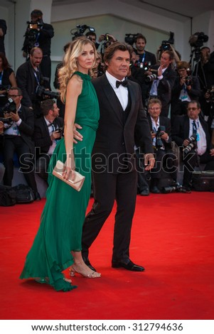 VENICE - SEPTEMBER 02, 2015: Kathryn Boyd and Josh Brolin attend the opening ceremony and premiere of 'Everest' during the 72nd Venice Film Festival