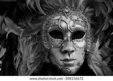 VENICE - SEPTEMBER 14: street carnival mask shop  on September 14, 2014 in Venice, Italy. The Carnival of Venice is an annual festival, held in Venice, Italy. - stock photo