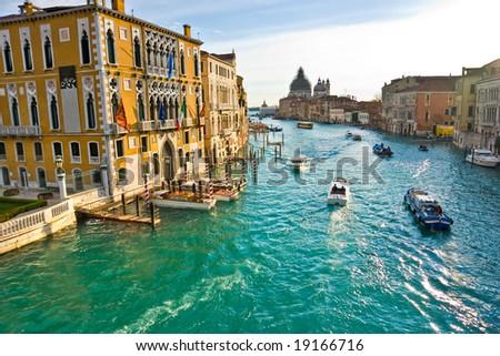 Venice, View from a Bridge. Italy. - stock photo