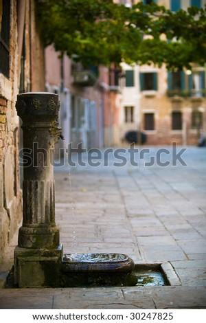 Venice water fountain - stock photo