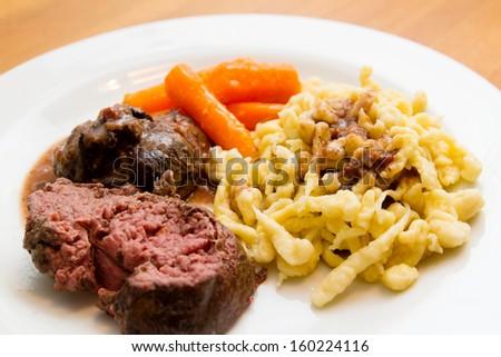 Venison meat - stock photo