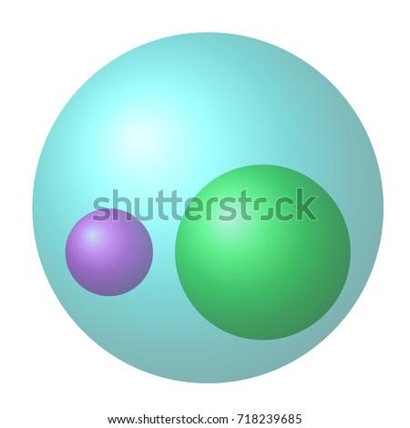 Venn Diagram Two Small Subsets Larger Stock Illustration 718239685