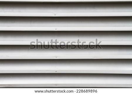 Ventilation on wall - stock photo