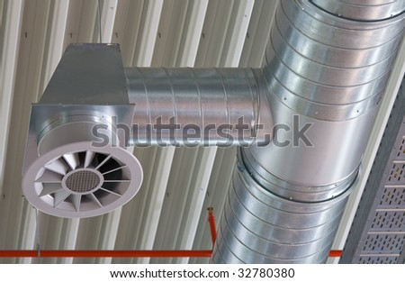 Ventilation opening of an air conditioning system - stock photo
