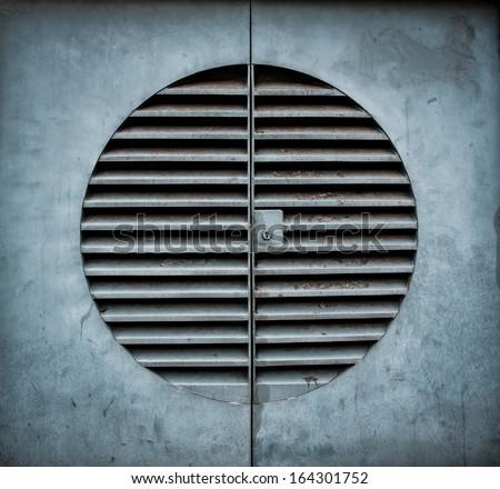 Ventilation shaft with a keyhole  - stock photo