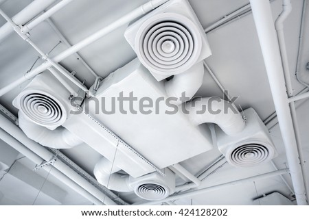 Ventilation system - stock photo
