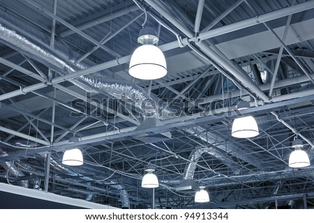 Ventilation system of modern building - stock photo