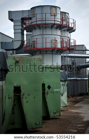 Ventilation unit of a factory