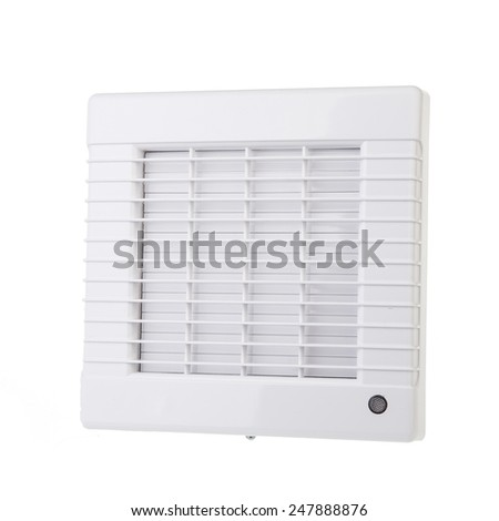 ventilators cover isolated on white