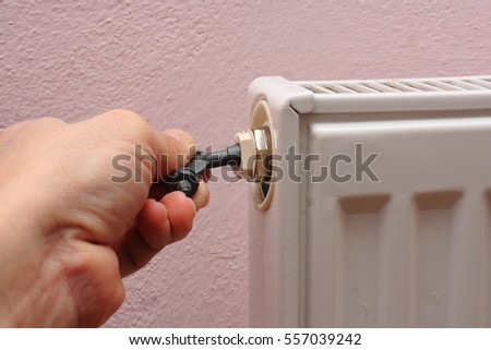 Venting of radiators with a special key