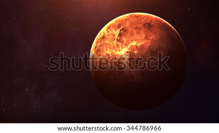 Venus - High resolution best quality solar system planet. This image elements furnished by NASA. - stock photo