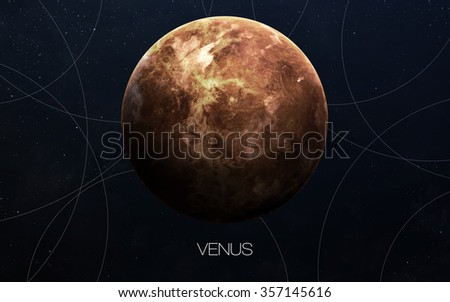 Venus - High resolution images presents planets of the solar system. This image elements furnished by NASA. - stock photo
