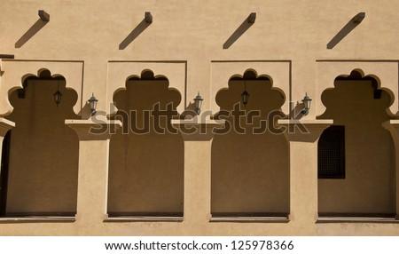 Veranda of an arabic house - stock photo