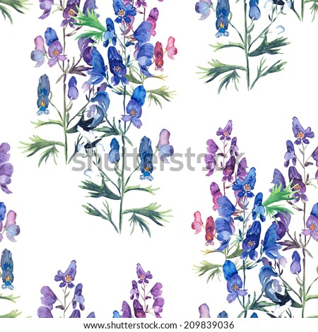 Verbena seamless pattern - stock photo