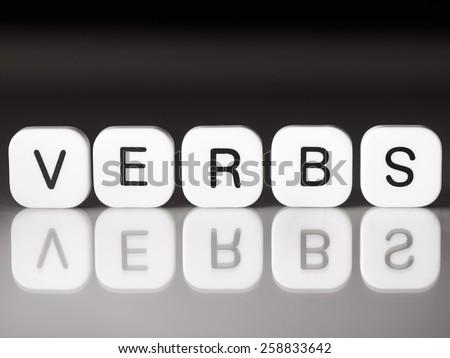 Verbs concept - stock photo
