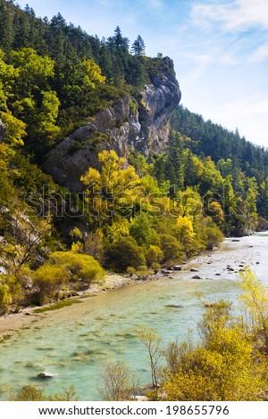 Verdon Gorge in autumn, Provence, France - stock photo