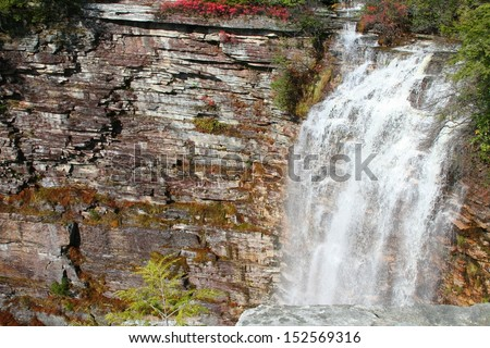 Verkeerderkill Falls, the highest waterfall in the Shawangunks, New York - stock photo