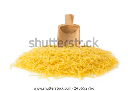 Vermicelli With Scoop - stock photo