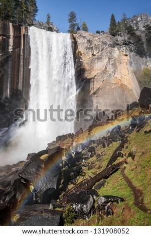 Vernall Falls in Yosemite, California. - stock photo