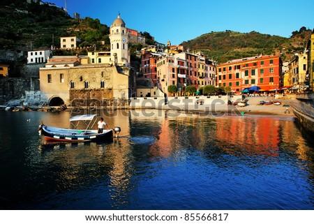 Vernazza, Cinque Terre, Italy - stock photo