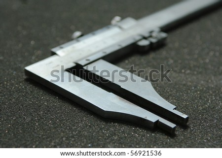 vernier caliper : Measuring ring size . - stock photo