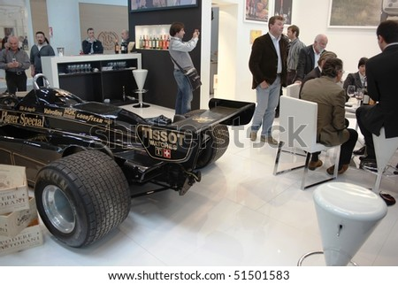 VERONA - APRIL 08: Elio De Angelis Lotus JSP in exhibition at one of the stands during Vinitaly, international wine and spirits exhibition April 08, 2010 in Verona, Italy.