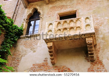 Verona Balcony - stock photo