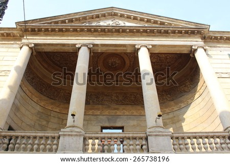 VERONA, ITALY - MARCH 18: A historical building on Via Giuseppe Mazzini street on March 18, 2015 in Verona. - stock photo