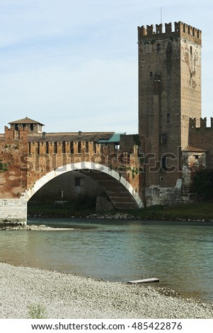 Verona,Italy, the Castelvecchio Bridge