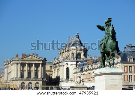 Versailles castle - stock photo